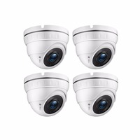 Tmezon AHD 1.0Mega 720P 4 *24 Leds High Definition waterproof Camera Day&Night Dome CCTV Security Camera Kits