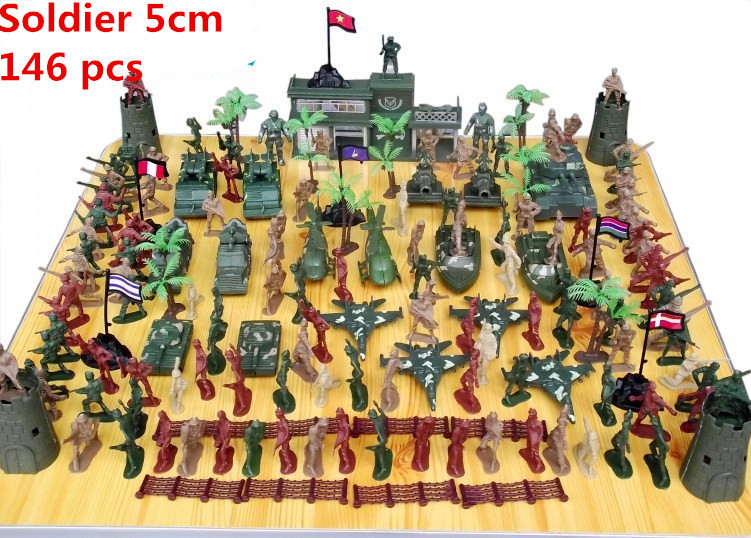 ФОТО New Product 146pcs/lot mini military equipment army plastic soldier model combat game toys birthday gift boys brinquedos