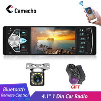 Camecho Car Radio 1 din 4022d FM radio car Auto Audio Stereo Bluetooth Autoradio Support Rear view Camera Steering Wheel Contral