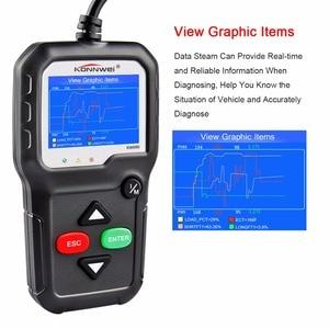 Image 3 - Skaner OBD2 OBD 2 samochodów diagnostyczne automatyczne narzędzie diagnostyczne KONNWEI KW680S rosyjski język skaner samochodowy narzędzia skaner diagnostyczny