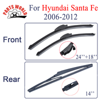 Combo Silicone Rubber Front And Rear Wiper Blades For Hyundai Santa Fe 2006 2012 Windscreen Wipers