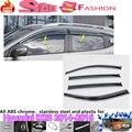 Envío gratis car styling cubierta detector de plástico Ventana de Viento Del Visera Lluvia/Sol Guardia Vent 4 unids para Hyunda1 IX25 2014 2015 2016