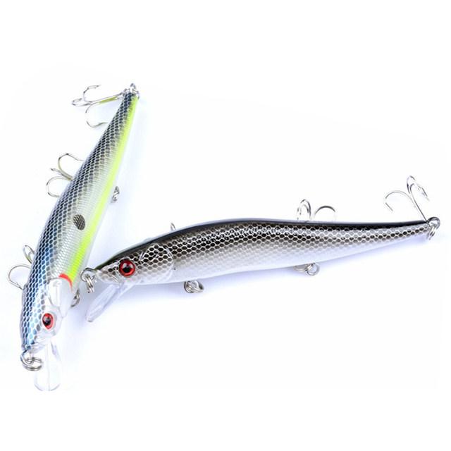 1Pcs Wobblers Crank bait Minows Artificial  11.5cm 13.5g Fishing Lure 3D Fish Eye Lures Fake Bait High Simulation Swim Crankbait