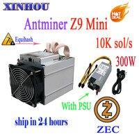 ZCASH/ZEC Minmin Antminer Z9 mini 10 k sol/s ASIC Equihash Mining machine สามารถโอเวอร์คล็อก to14K miners ดีกว่า S9 M3 L3