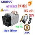 ZCASH/ZEC miner Antminer Z9 mini 10 k sol/s ASIC Equihash Bergbau maschine kann übertaktet to14K bergleute sind besser als S9 M3 L3