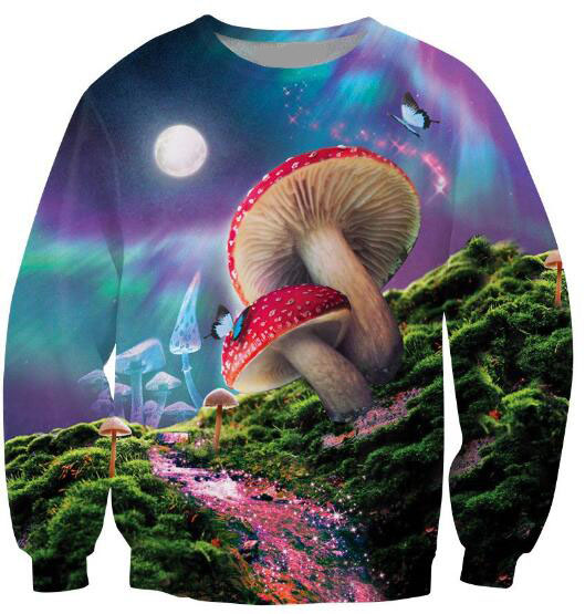 Bad Trip Sweatshirt Melting mushroom Beautiful Crewneck Jumper psychedelic vision Jersey Sweats Hoodies Tops Men Outfits