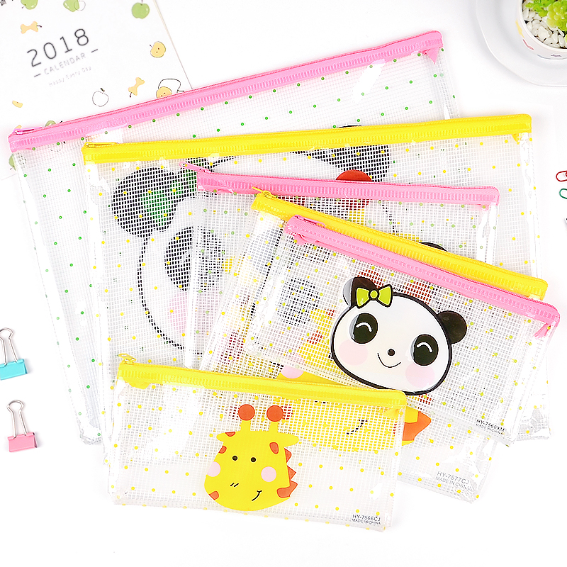 1PCS Cute A4 A5 B6 File Bag Document Bag File Folder Stationery School Office Supplies For Student Kids Pencil Case