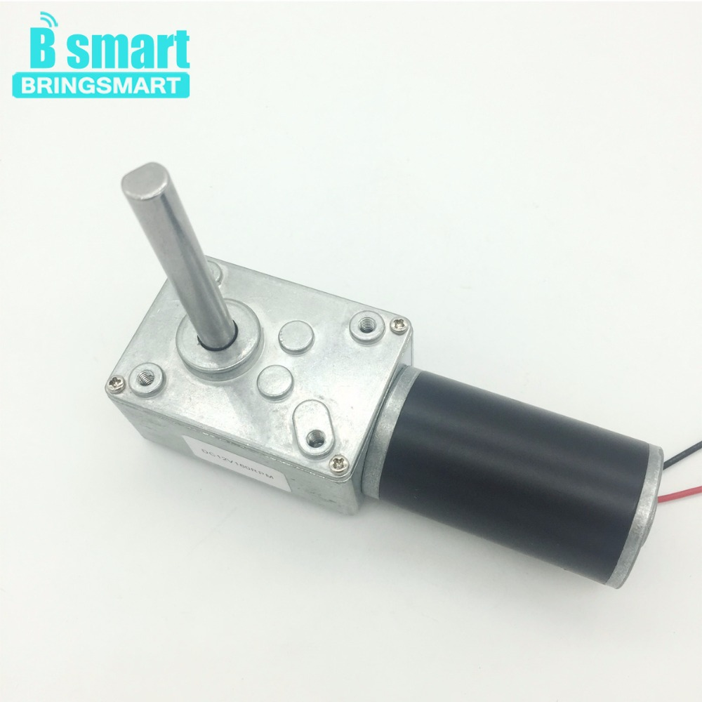 цены Bringsmart 5840-31ZY 12V DC Motor Reversed Reduction Motor Self-lock Extension Shaft Motor 24V Worm Geared Motors High Torque