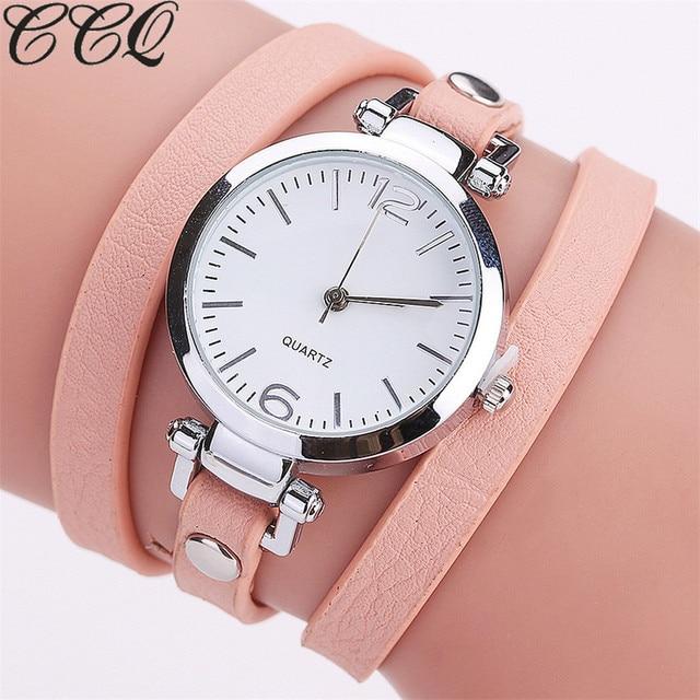 CCQ Fashion Luxury Leather Bracelet Watch Ladies Quartz Watch Casual Women  Wrist Watch Relogio Feminino Drop 6d9cd56ef297