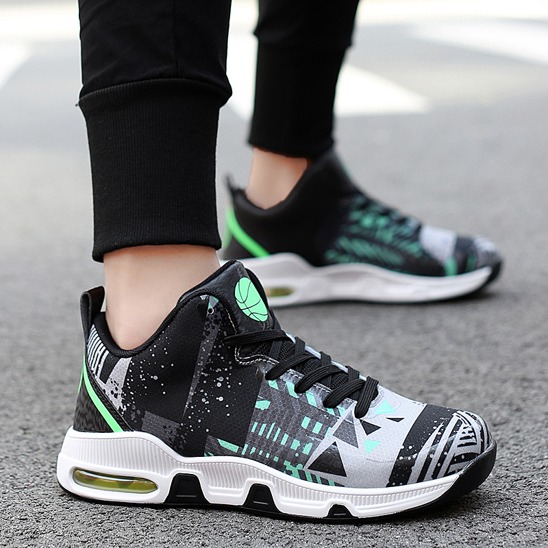 Plus Size 35 46 Sport Fashion Sneakers Women Breathable Geometric Basket Female Men 39 s Casual Shoes Air Cushion Sneakers NX013 in Women 39 s Vulcanize Shoes from Shoes