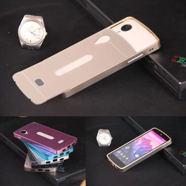 For LG Google Nexus 5 E980 Phone Case Metal Aluminum+Plastic Hard Back Cover Pull Out Mobile Phone Protective Case