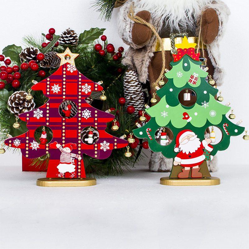 Christmas Tree Decorations Aliexpress: Christmas Tree Small Ornament Mini Painted Christmas Tree