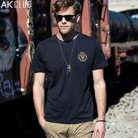 AK CLUB Men T Shirt Light Vintage Style Flying Tigers Printing T Shirt 100 Cotton Tshirt