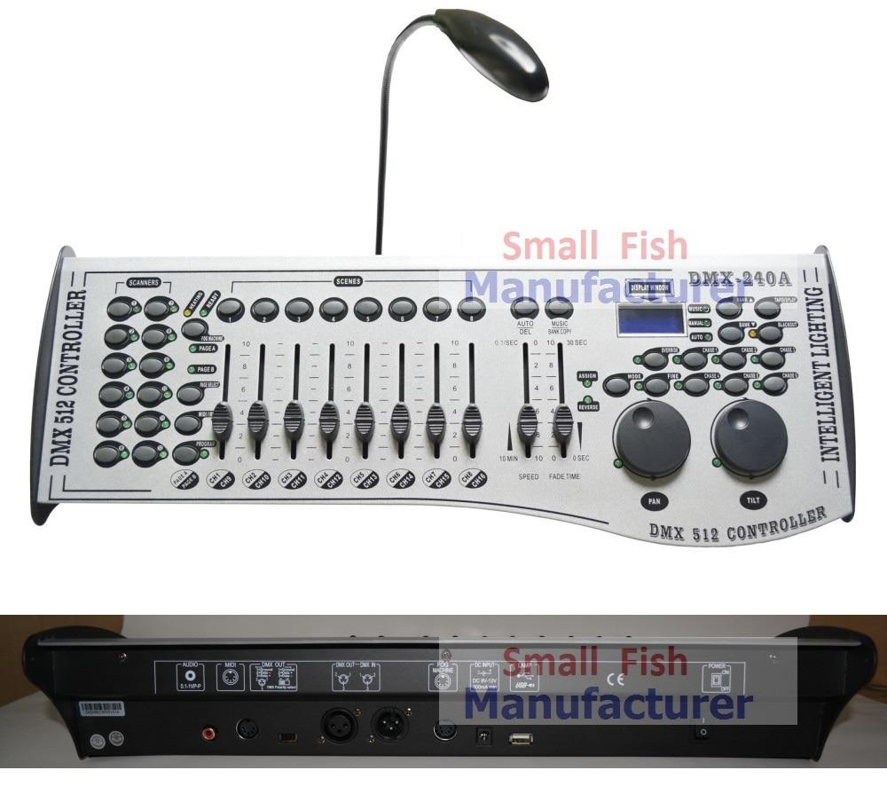 Livraison Gratuite DMX240 Console DMX 512 Contrôleur 192 Canaux Professionnel DJ Disco Équipement Contrôleur Led Moving Head Lumières