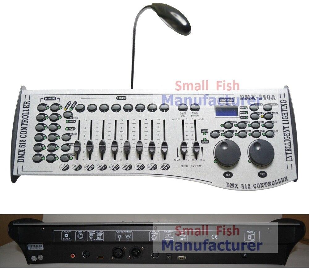 Livraison gratuite DMX240 Console DMX 512 contrôleur 192 canaux professionnel DJ Disco contrôleur équipement Led phares mobiles