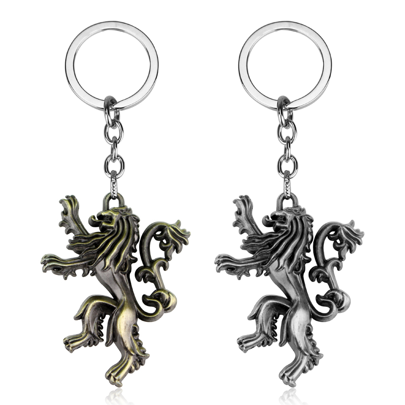 USA Game of thrones House Baratheon Keychains Metal Predant Keyring Fans Gift