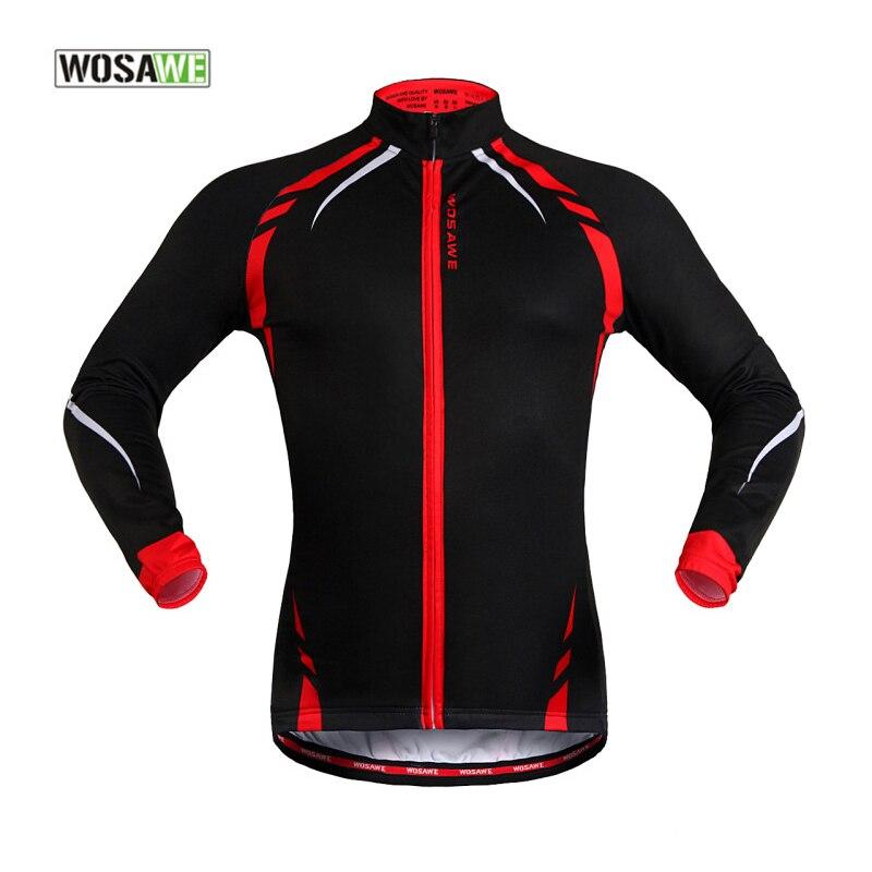 WOSAWE veste de vélo vêtements de vélo à manches longues hiver polaire thermique veste de vélo réfléchissant vélo Jersey Sportswear manteau