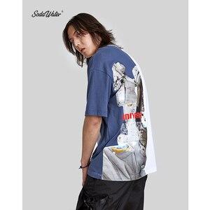 Image 3 - SODA SU Büyük Boy Baskı T shirt Üst Marka Giyim erkek Kısa Kollu Tshirt Streetwear Hiphop Gevşek pamuklu bluz Tees 91218S