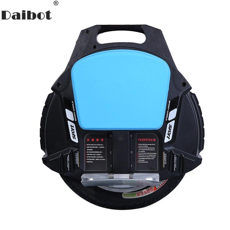 Daibot une roue électrique monocycle Scooter auto équilibrage Scooters avec haut-parleur Bluetooth 500W 60V Scooter électrique pour adultes