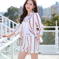 Women Girl Sweet Suits Fashion Short Sleeve Jacket And Shorts 2 Piece Set Suit For Hot Summer Wear