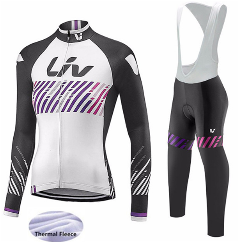 Pro Winter Thermal Fleece Long Sleeve Cycling Jersey Bicycle Clothing Bike Clothes MTB Ropa Ciclismo Liv Cycling Clothing