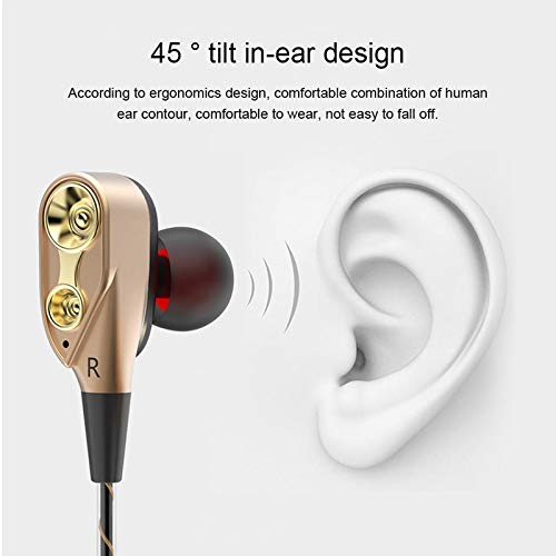 3 5mm Wired earphone Dual Drive Stereo earphone In ear Headset Earbuds Bass Earphones For iPhone 7 Samsung Sport Gaming Headset in Phone Earphones Headphones from Consumer Electronics