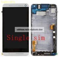 Per Htc One M7 802D 802 W Screen display Lcd Con Touch Glass DIgitizer + Telaio di Montaggio Singola o doppia sim di Ricambio