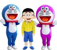 Super High Quality Doraemon Mascot Costume Robot Cat Cute Character Anime Manga Mascot Costume Adult Suit Cartoon Mascot Costume