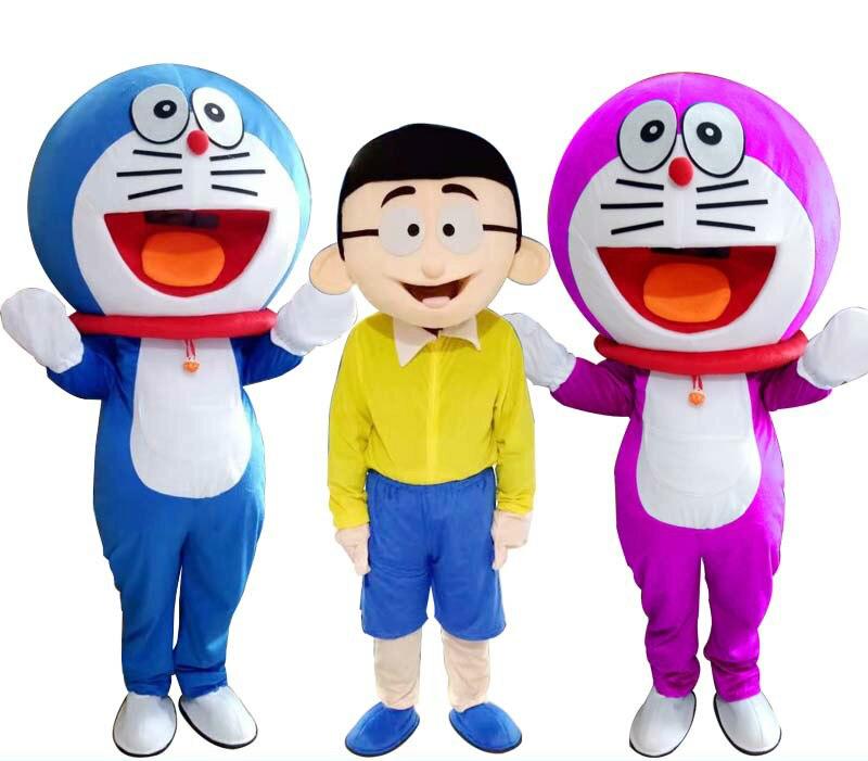 Super haute qualité Doraemon mascotte Costume Robot chat mignon personnage Anime Manga mascotte Costume adulte dessin animé mascotte Costume
