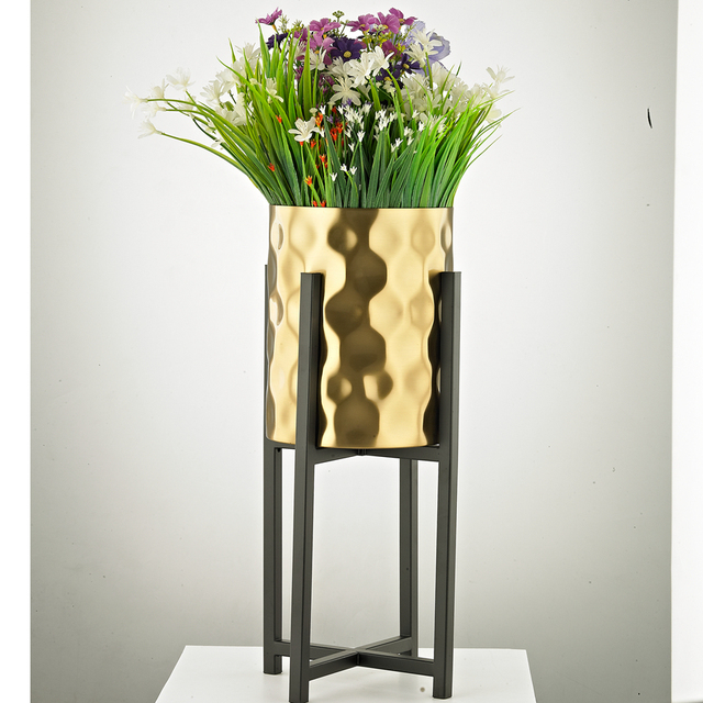 Aliexpress Buy Europe Tabletop Vases Metal Flower Vases Modern