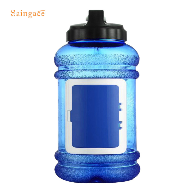 Saingace Sports Water Bottle 2 2L Large Capacity Gym Training Camping Running Workout Water Bottle 1PC
