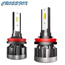 H4 LED H1 H7 H8 H9 H11 9005 HB3 9006 HB4 자동차 CSP LED 전조등 전구 40W 6000K 8000LM 자동 램프 전구 Automotivo