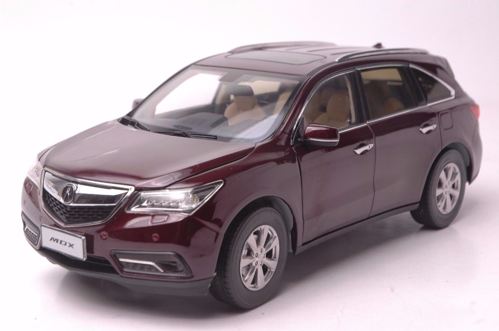 1:18 Diecast Model for Acura MDX 2016 Red Luxury SUV Alloy Toy Car Miniature Collection Gifts масштаб 1 18 acura mdx 2016 diecast модель автомобиля красный