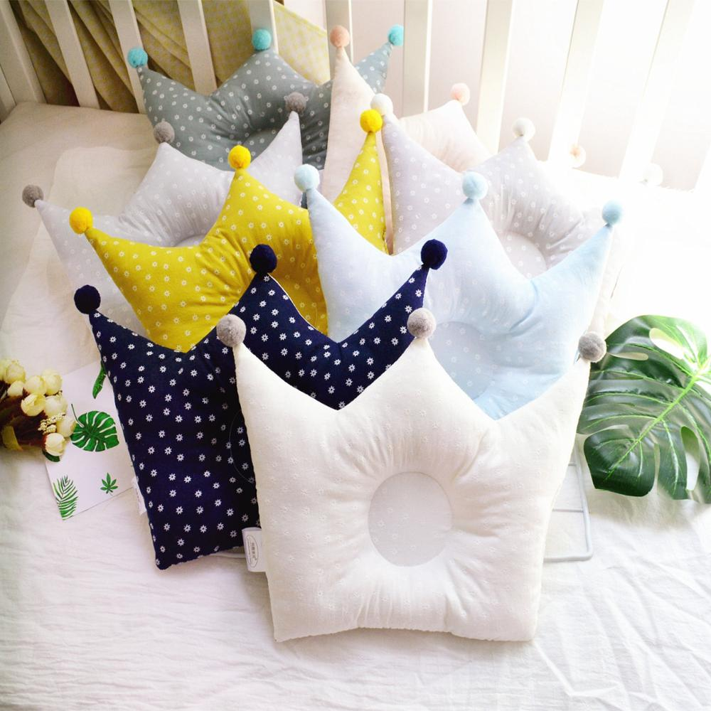 Baby Sleep Soft Breathable Pillow Anti-head Newborn Baby Floral Crown Shape Child Pillow Backrest Baby Room Decor