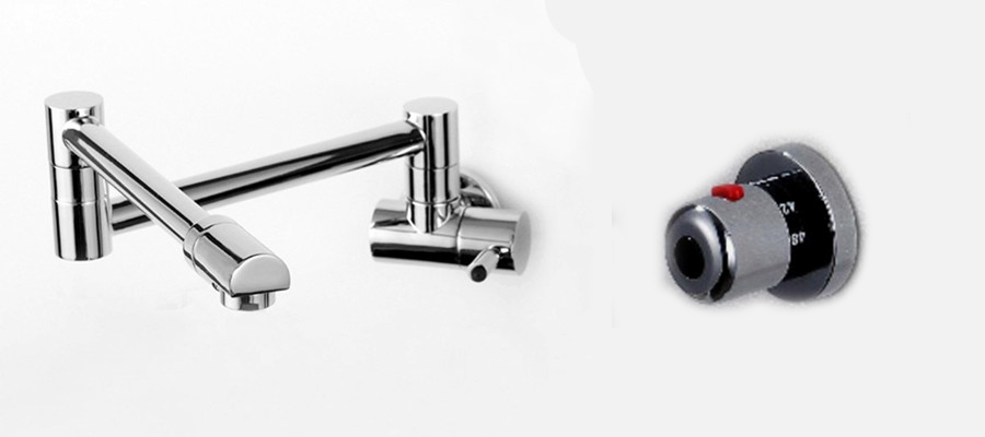 Thermostatic Kitchen Faucet hot and  Cold Kitchen Tap Wall Water Mixer torneira cozinha grifos cocina dragon lanos SF897 Thermostatic Kitchen Faucet hot and  Cold Kitchen Tap Wall Water Mixer torneira cozinha grifos cocina dragon lanos SF897