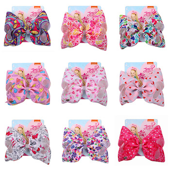 8 Inch Large Jojo Bows for Girls Jojo Siwa Hair Bows for Girls with Clips Bowknot Handmade Girl Hair Accessory  Valentine's Gift