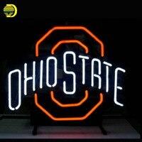 Ohio State Buckeyes Neon Sign Bear Handcrafted Neon Bulbs Night Light Glass Tube Custom Lamp Neon