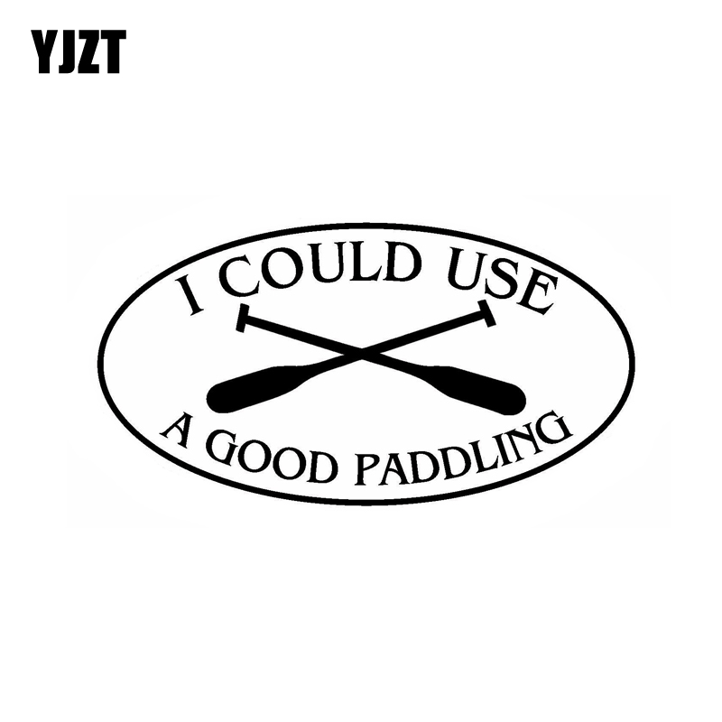 Knowledgeable Yjzt 14.8cm*7.8cm I Could Use A Good Paddling Oval Vinyl Decals Cute Car Sticker Black Silver C10-01569 Car Stickers