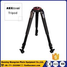 25kg load Aluminum dslr camera tripod professional video camera tripod for dslr camera camcorder without fluid head for travel