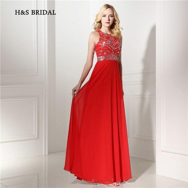 H   s bridal 2017 new fashion a line chiffon formal evening gowns panjang  sequin palang 9e1ce7927e5e