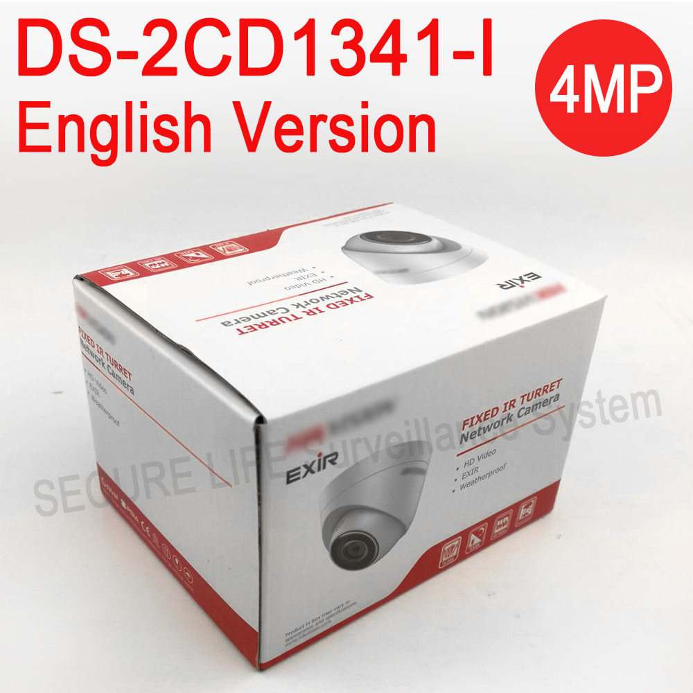 DHL free shipping English version DS-2CD1341-I replace DS-2CD2345-I 4MP CCTV camera POE ip camera 1080P upgradable firmware in stock english version 4mp ip camera ds 2cd1341 i replace ds 2cd2345 i network cctv turret camera full hd1080p ip67 h 264
