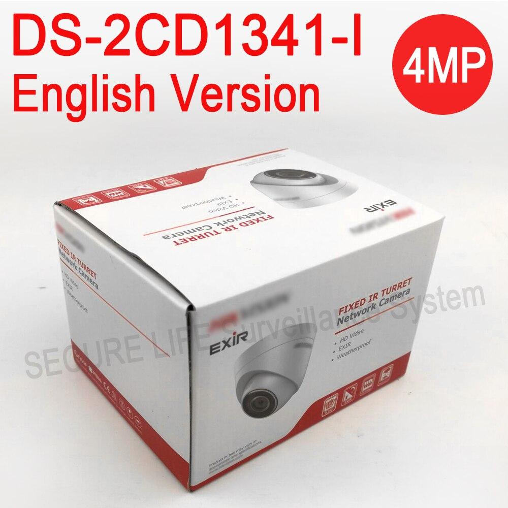 DHL livraison gratuite Anglais version DS-2CD1341-I remplacer DS-2CD2345-I 4MP CCTV caméra POE ip caméra 1080 P extensible firmware