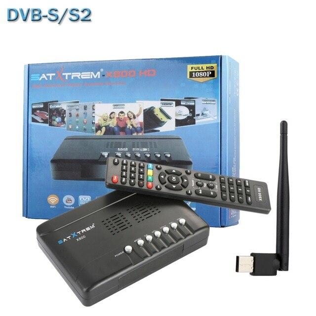 SATXTREM X800 HD DVB-S2 Receptor Digital Satellite Receiver Decoder TV Tuner For PC+Wifi Antenna Support Cccam Newcam Biss Key