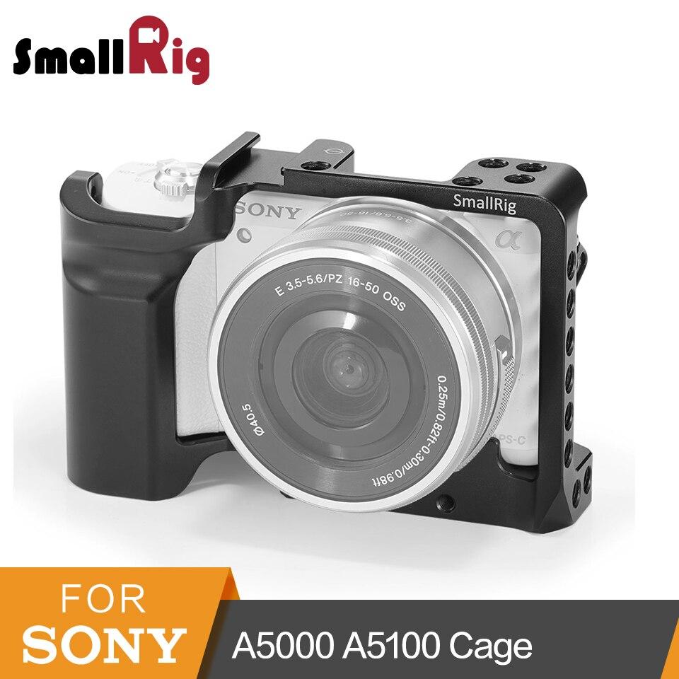 SmallRig A5000 jaula para Sony A5000/A5100 de aleación de aluminio de la jaula para montaje en trípode de liberación rápida extensión Kit-2226
