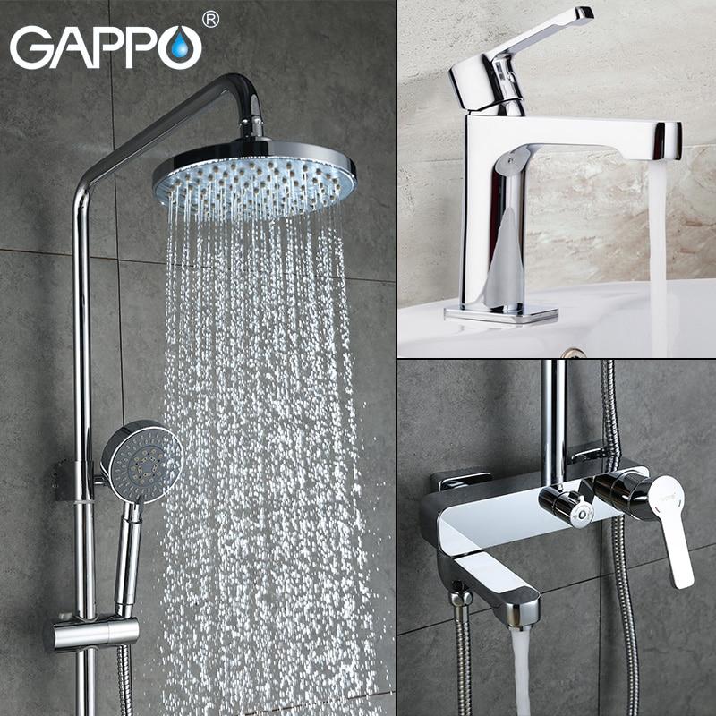 GAPPO chuveiro torneira da pia bacia misturador torneira do banho Chuvas torneira do chuveiro torneira misturadora banheira torneiras banho de chuveiro chuveiro sistema