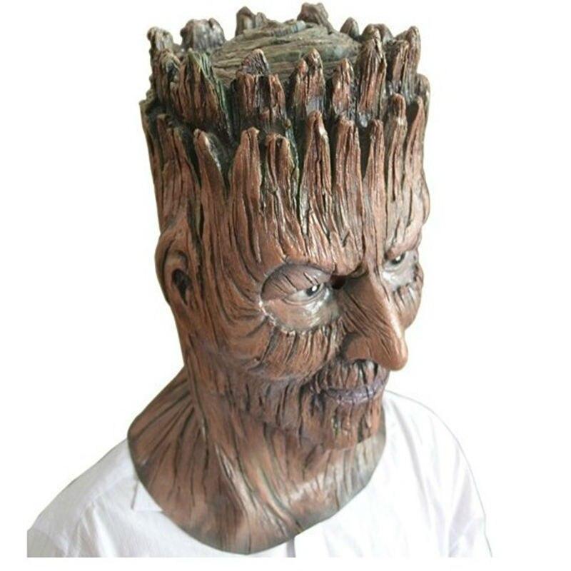 Halloween Magical Dryad Tree Rubber Masks Horror Treefolk
