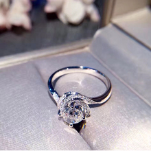 ANI 18K White Gold (AU750) Women Wedding Ring IGI Certified VVS2 Luxury 1 Carat  Real Natural Diamond Twisted Halo Ring Custom
