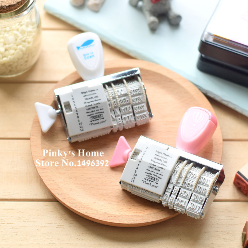 Kawaii Date Roller Stamp Vintage DIY for Wedding Scrapbooking Office School Supplies Stationery Set scrapbooking stamp diy size 14cm 18cm acrylic vintage for photo scrapbooking stamp clear stamps for scrapbooking clear stamps 06