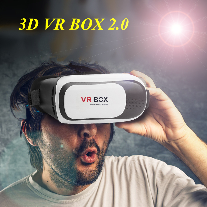 3D VR BOX II 2.0 Version Virtual Reality Video Movie Game Smartphone Glasses Headset Bluetooth Remote Joystick Gift to Children