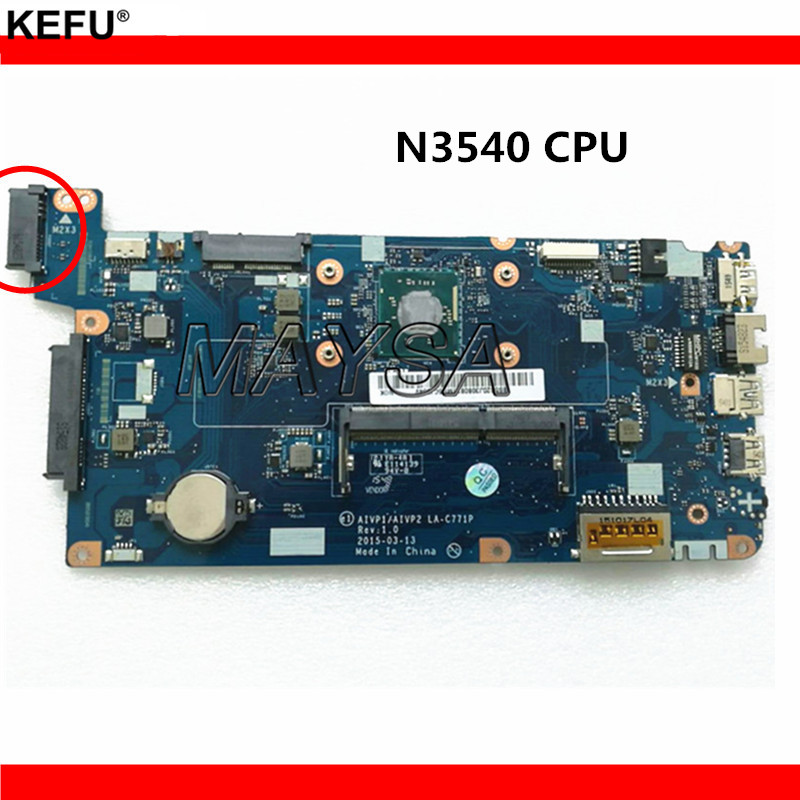 AIVP1/AIVP2 LA-C771P Fit For Lenovo 100-15IBY Laptop Motherboard With N3540 CPU DDR3L 100% Tested Fast Ship